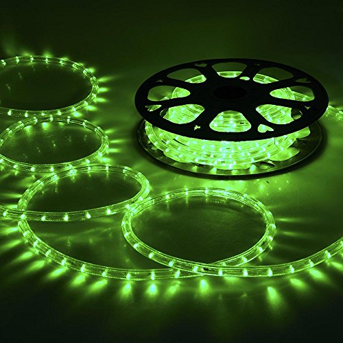 Yescom 50ft Green 2 Wire Led Rope Light Indoor Outdoor Home Holiday Valentines Party Restaurant Cafe Decor