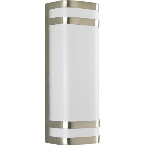 Progress Lighting P5806-09 2-Light Energy Efficient Compact Fluorescent Linear Lantern Brushed Nickel