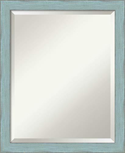 Amanti Art Framed Mirrors for Wall  Sky Blue Rustic Mirror for Wall  Solid Wood Wall Mirrors  Small Wall Mirror 1825 x 2225