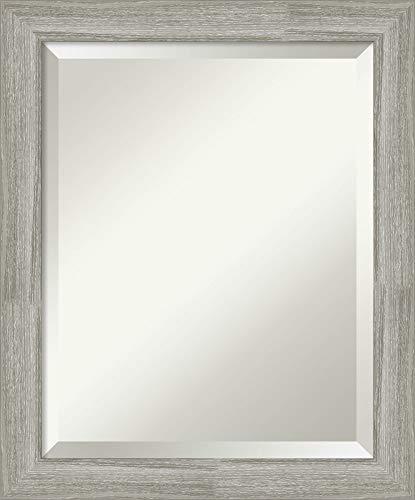 Framed Vanity Mirror  Bathroom Mirrors for Wall  Dove Greywash Narrow Mirror  Wall Mounted Mirror  Small Mirror  2350 x 1950