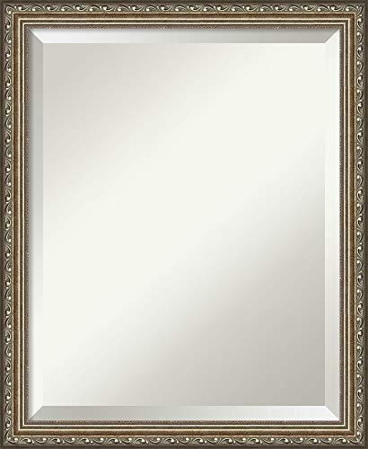 Framed Vanity Mirror  Bathroom Mirrors for Wall  Parisian Silver Mirror Frame  Solid Wood Mirror  Small Mirror  2225 x 1825