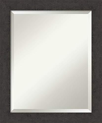 Framed Vanity Mirror  Bathroom Mirrors for Wall  Rustic Plank Espresso Narrow Mirror  Wall Mounted Mirror  Small Mirror  2325 x 1925