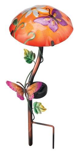 Regal Artamp Gift 10341 Solar Mushroom Garden Stake Butterfly