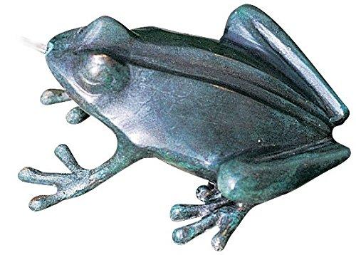 Crazy Frog Pond Spitter 6 High Cast Brass Fountain Accent