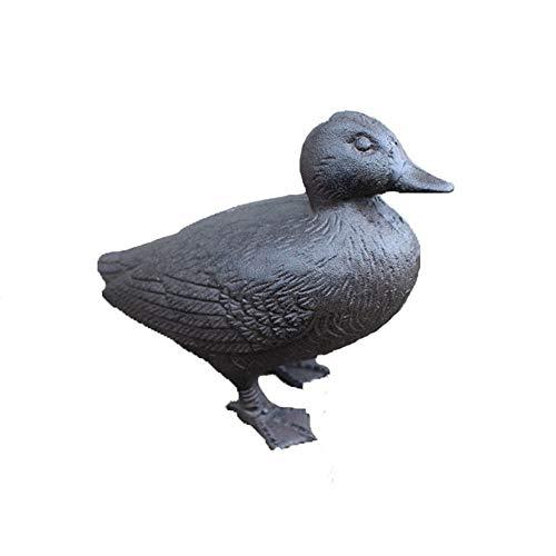 Monkibag Sculpture Garden Cast Iron Duck Decorative Garden Metal Art Iron Figurine Animal Decoration Sculptures for Courtyards Store Color  Black Size  As Shown