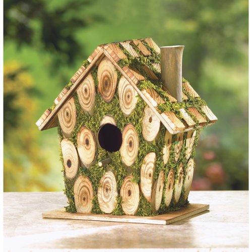 koehler Home Decor Outdoor Garden Accent Moss Bird House