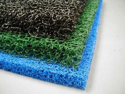 3 Sheets 3 Color Matala Pond Filter Mat Koi Media Pad 19&quot X 24&quot Black Green Blue
