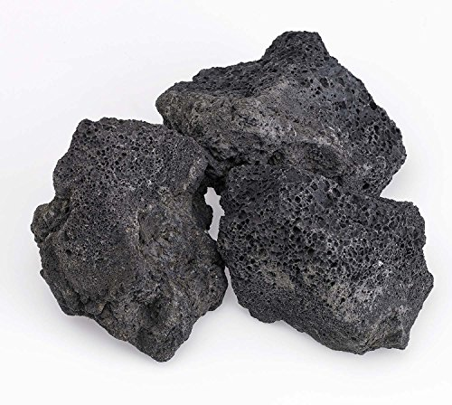 American Fireglass 10-Pound Black Lava Rock XXL 4-6 Inch