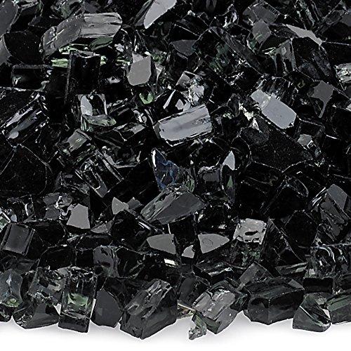 American Fireglass 5-Pound Fireplace and Fire Pit Glass  Black 14-Inch