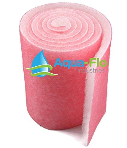 Aqua-Flo Pond Aquarium Filter Media 12 x 120 10 Feet Long x 1 Thick PinkWhite