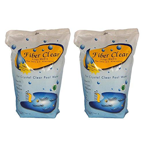 Fiber Clear 4003dc-02 Cellulose Filter Media De Alternative For Swimming Pools 2 Pack 3 Lb