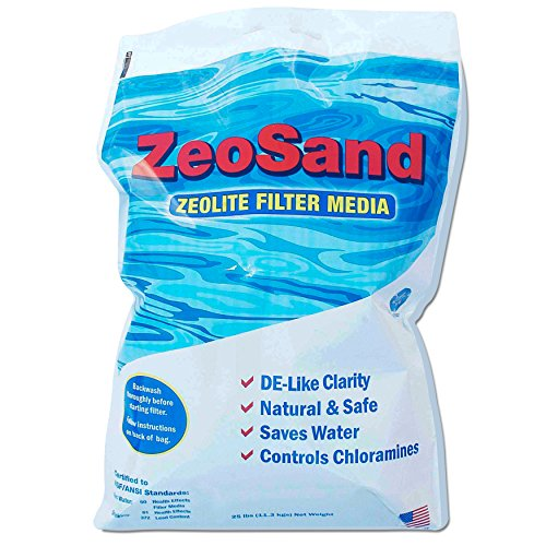 Zeosand Alternative Pool Sand Filter Media - 50 Pounds Byquotzeo Inc&quot