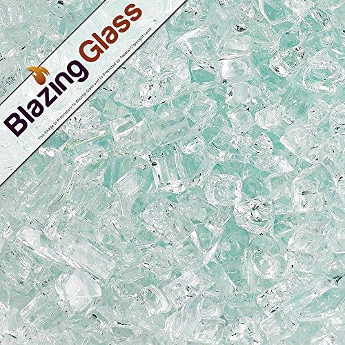 Blazing Fireglass 10-pound Fire Glass With Fireplace Glass And Fire Pit Glass 14-inch Clear