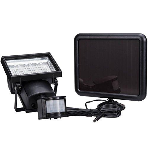 Serenita 60 Smd Solar Powered Waterproof Security Light Outdoor Motion Sensor Lighting For Wall  Patio Garden