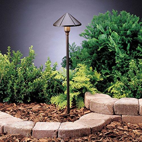 Kichler Lighting 15826AZT LED Center Mount Low Voltage Landscape Path and Spread Light Textured Architectural Bronze