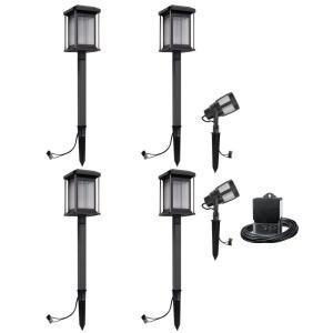 Malibu Lighting 8418290606 Malibu Landscape Lighting Low Voltage Led Prominence Path Amp Spot Light Kit Gun