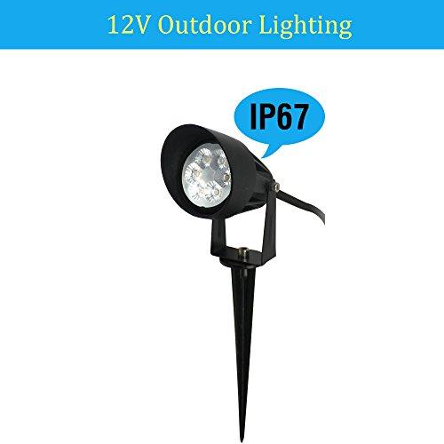 Makergroup Outdoor Landscape LED Lighting 12V Low Voltage Lighting Garden Yard Path Lawn lighting Spotlights Uplighting Flood Lighting1-Pack