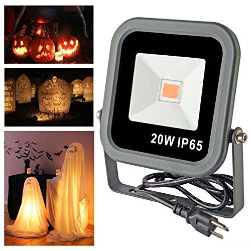 Ticoze Landscape Lights 20w Led Flood Light 1800k-2300k Amber Glow Waterproof For Halloween Garden Patio Outdoor