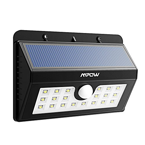 Mpow Bright Solar Light Solar Powered Outdoor Motion Active 20 Led Lights For Garden Patio Fencing Path Lighting