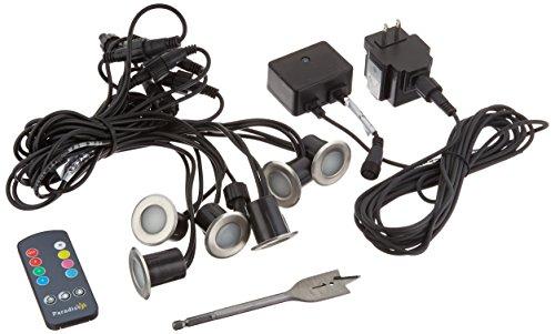 Paradise Gl28103ss6 Low Voltage Color Changing Led Deck Light Kit remote Control 6w Transformer Connectors