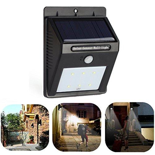 Pathway Light 6led Solar Power PIR Motion Sensor Wall Light Outdoor Waterproof Garden Lamp Low Voltage Deck Lights
