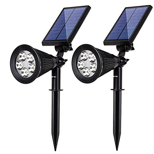 Albrillo 5 Led Solar Powered Spotlight Landscape Lights Outdoor Waterproof Wall Security Sensor Lighting For Patio