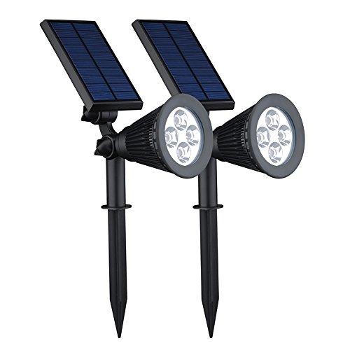 Victsing 200 Lumens Solar Powered Led Landscape 180&deg Adjustable Waterproof Outdoor Spotlight For Driveway Yard