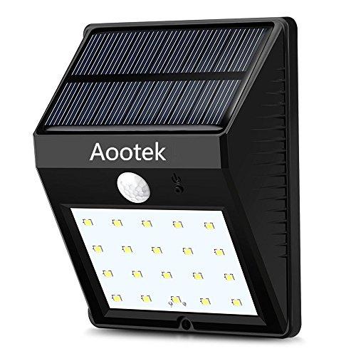 Solar Deck Lights 20 LED Aootek Waterproof Outdoor Wireless Motion Sensor Light for Patio Deck Yard Garden 1
