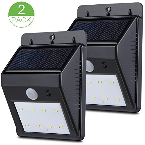 Sundixtm 2pack Solar Powered 8 Led Motion Sensor Outdoor Light For Garden Backyard Deck Garage Pathway&65292wireless
