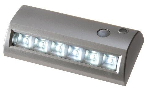 Light It By Fulcrum 20032-301 6 Led Wireless Motion Sensor Weatherproof Garden Or Path Light Silver
