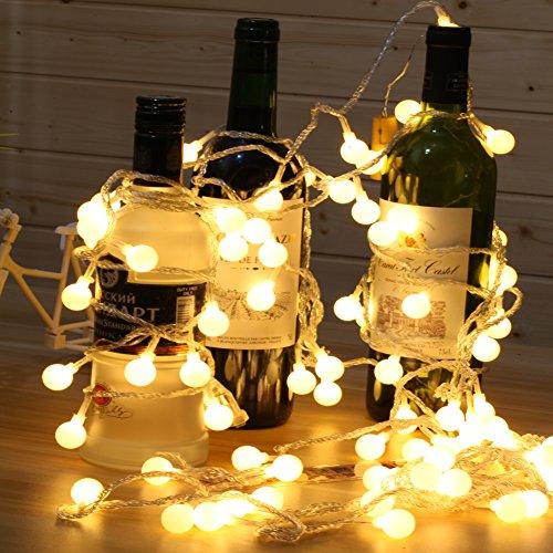 Babali 100 Led Globe String Lights 33ft 10m 31v Low Voltage Safety Cherry Ball Fairy Light Strings 8 Modes For