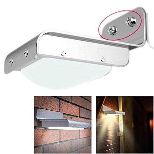 Pathway Light 16 LED Solar Power Motion Sensor Security Lamp Outdoor Garden Waterproof Light Low Voltage Deck Lights