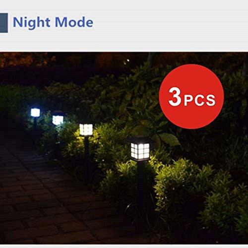 Pathway Light 3pcs Solar Power LED Yard Lawn Light Party Path Outdoor Spotlight Garden Lamp Low Voltage Deck Lights