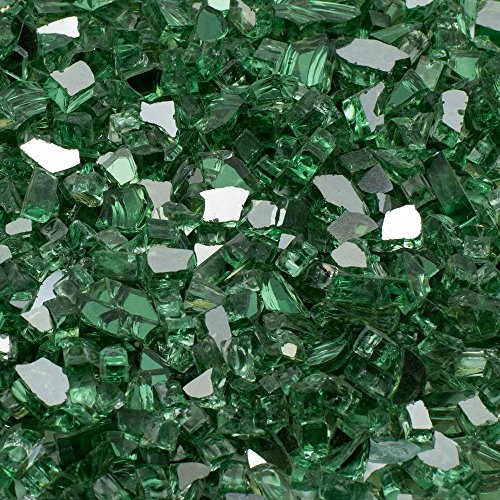 Margo Garden Products 14 in 25 lb Green Reflective Tempered Fire Glass