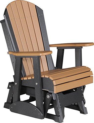 Outdoor Poly 2 Foot Porch Glider - Adirondack Design CEDARBLACK Color