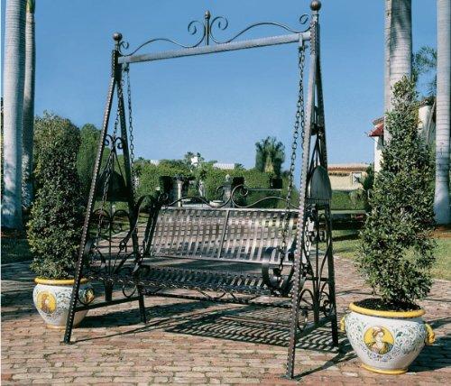 Tete Tete European French Iron Rosette Garden Porch Lawn Swing Xoticbrands