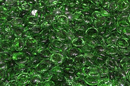 Fireglass Fire Beads Fireplace Glass And Fire Pit Glass 10-pound Emerald Green Luster