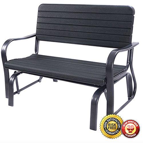 New Outdoor Patio Swing Porch Rocker Glider Bench Loveseat Garden Seat Steel