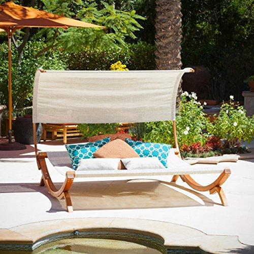 Rosalie Outdoor Patio Swing Sunbed Canopy Set