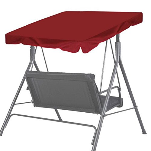 New Patio Outdoor 77&quotx43&quot Swing Canopy Replacement Porch Top Cover Seat Furniture burgundy