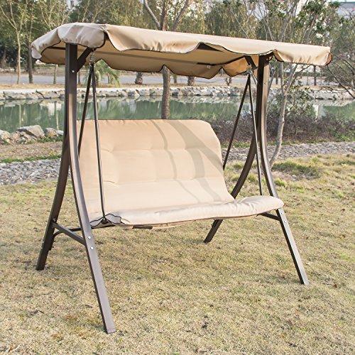 Bestmart INC Outdoor Garden Yard Patio Streamer Seat Relaxer Balcony Canopy Porch Swing Glider Hammock Chair