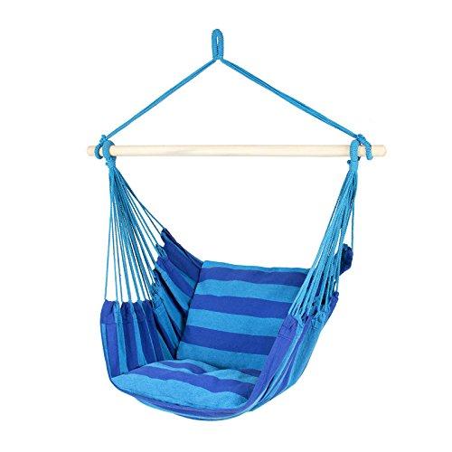 Adorox Hanging Rope Hammock Patio Porch Chair Swing Outdoor Camping blueteal 1 Hammock