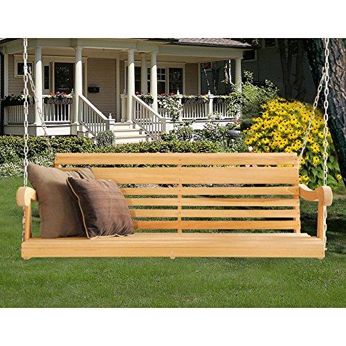 Hershy Way Cypress 5 Ft Classic Grandpa Porch Swing
