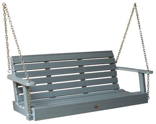 Highwood Weatherly Porch Swing 5 Feet Coastal Gray
