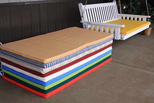 5 Foot Outdoor Swing Bed Mattress CUSHION ONLYSundown Material- Burgundy