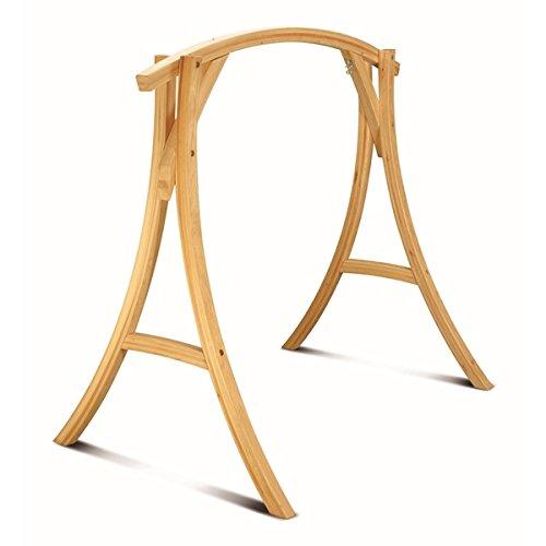 Pawleys Island Hatteras Roman Arc Cypress Wood Swing Stand