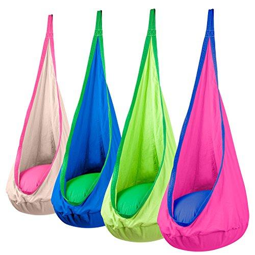 Driftsun Hammock Pod Kids Swing  Outdoor And Indoor Childrens Hammock Chair Nook green