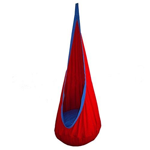 Seasofbeauty Kids Child Pod Swing Chair Nook Tent Indoor Outdoor Hanging Seat Hammock Red