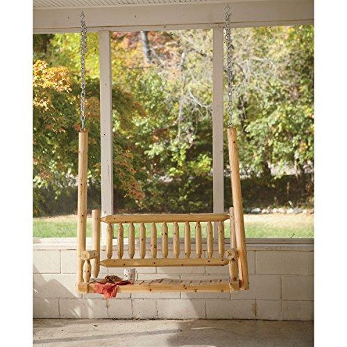 Outdoor New Rustic Cedar Log Wood Porch Swinggy583-4 6-dfg233247