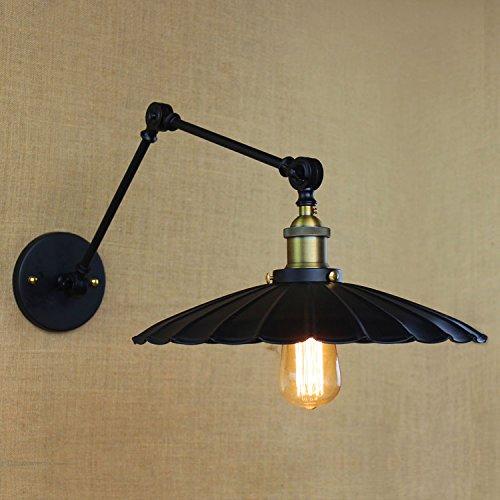Kiven Vintage Industrial Wall Lamp Loft Creative Swing Arm Sconce Balcony Stair Porch Restaurant Bar Bedroom Wall Light
